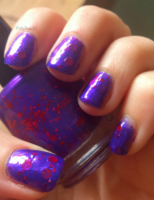 Indie Darling Diva purple red glitter