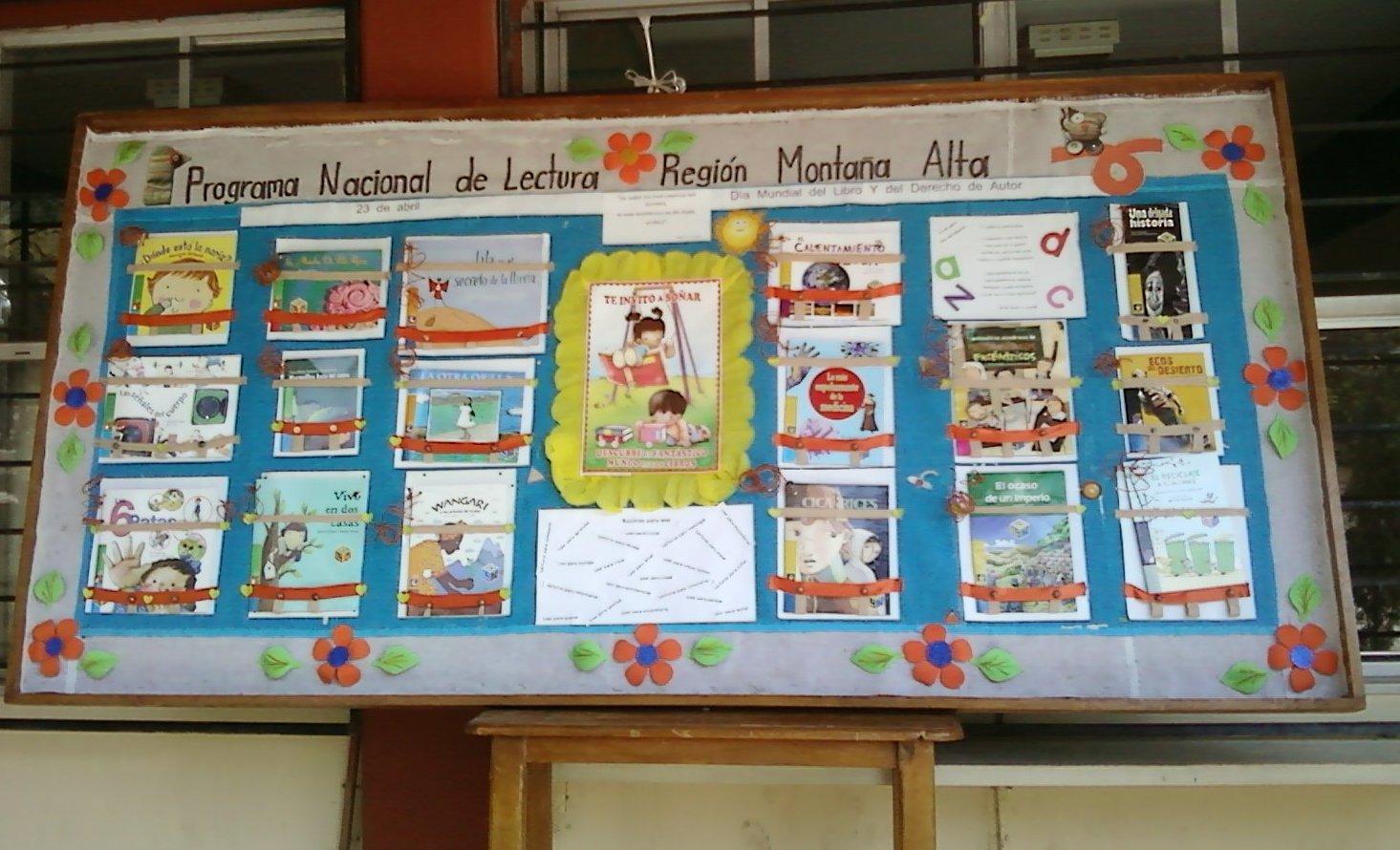 Programa nacional de lectura regi n monta a alta de for Estructura del periodico mural