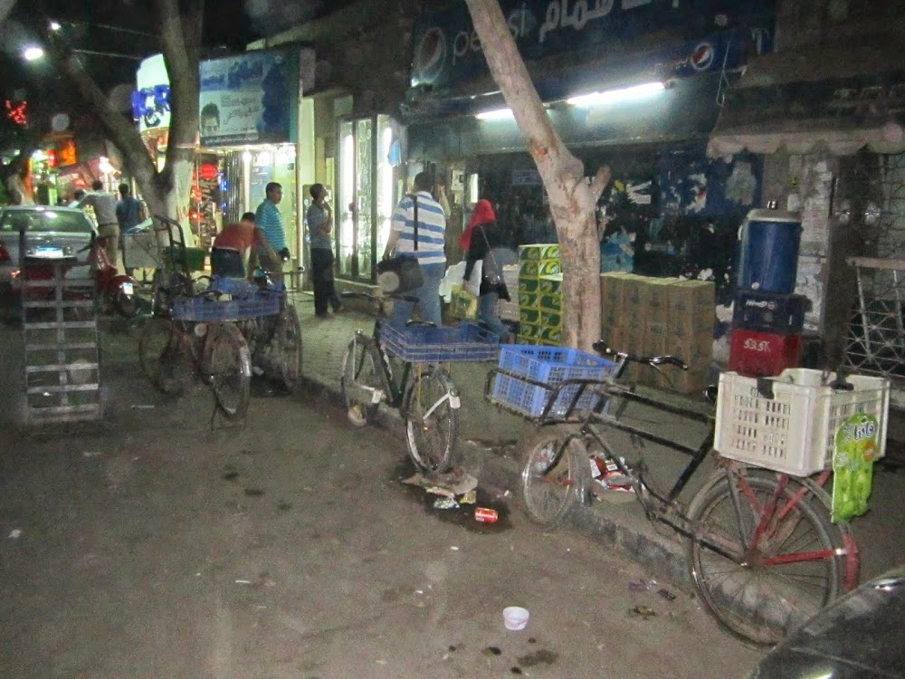 Some Bicycles Used for Both Sustainable Transport and Transportation in Cairo