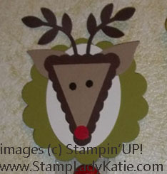 Reindeer Punch Art Bag Topper with Stampin'UP! punches