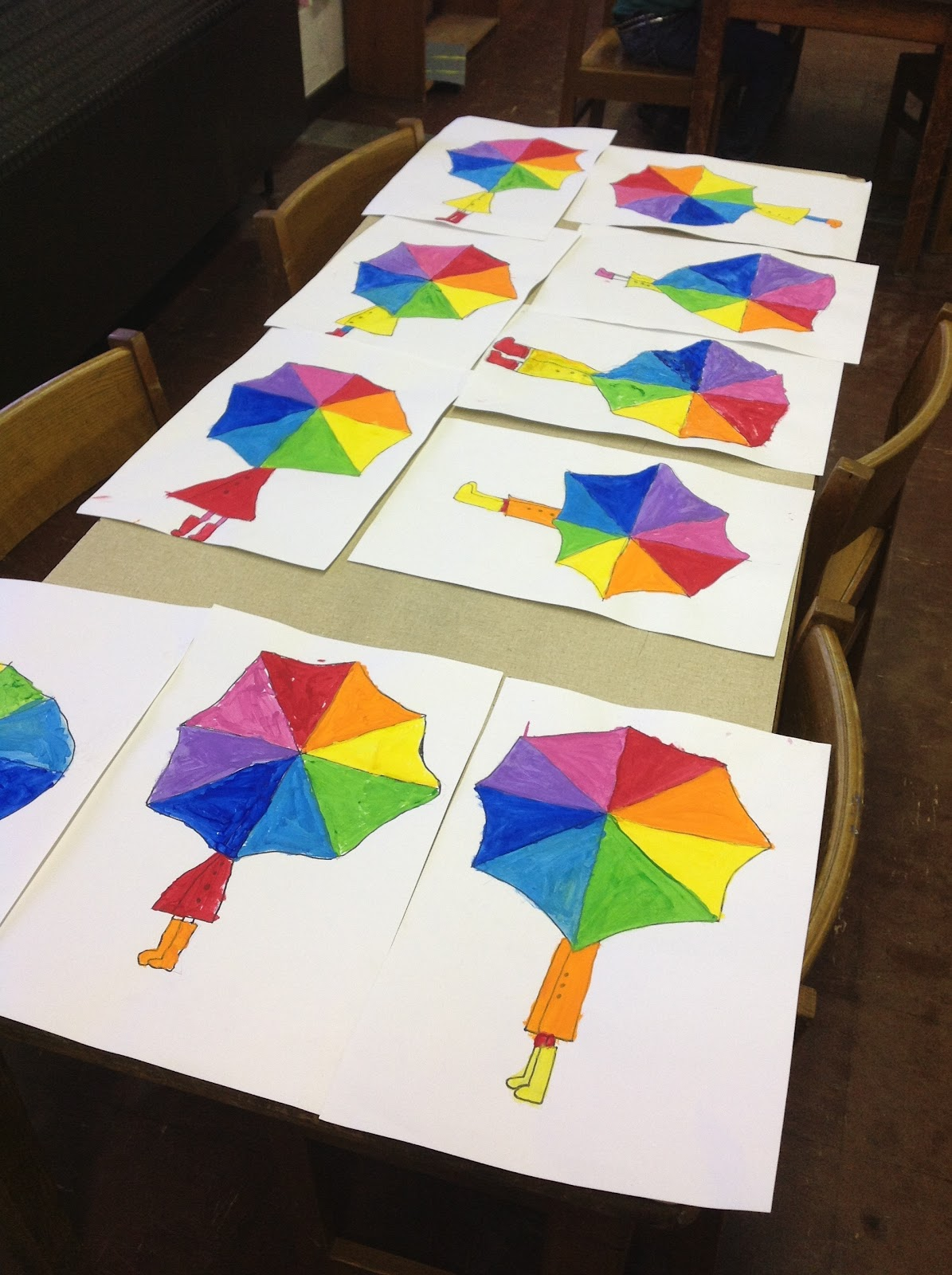 color it like you mean it color wheel umbrellas