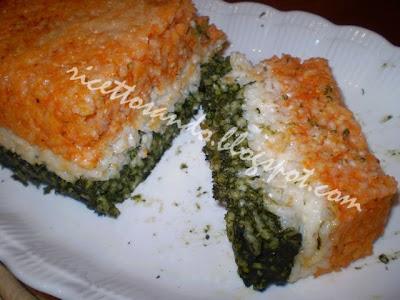 Timballo di riso tricolore