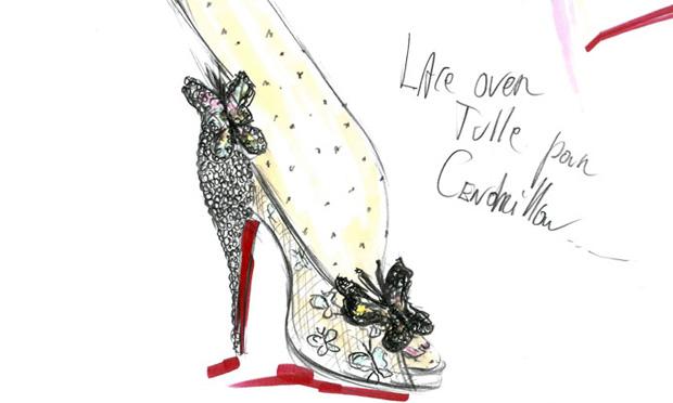 Os Sapatos da Cinderela por Louboutin