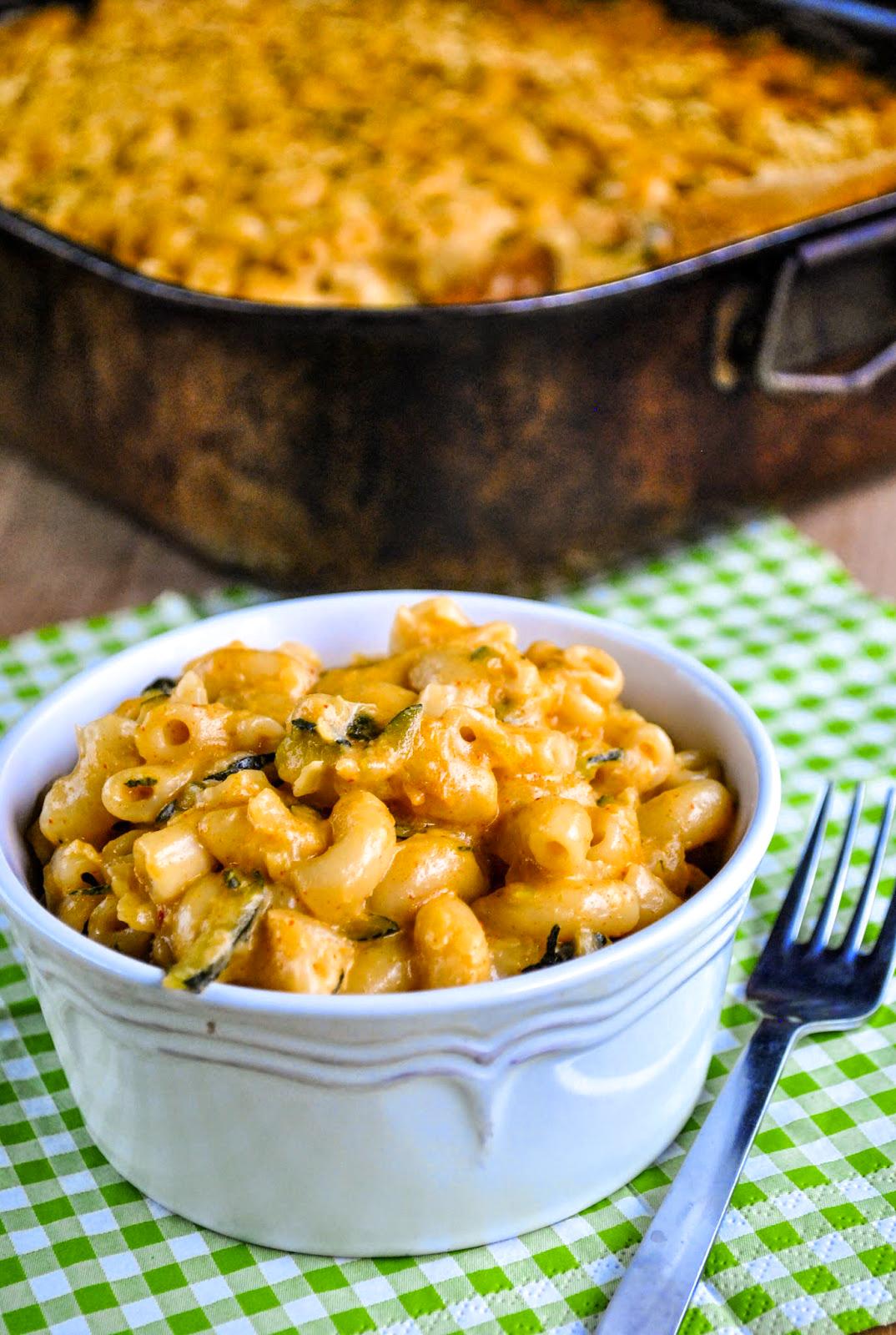 Cheesy baked vegan mac and cheese with zucchini  VeganSandra - tasty ...