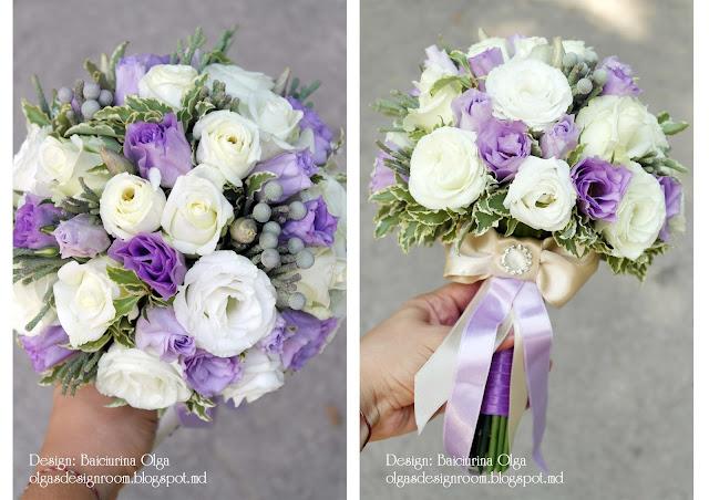 Букет невесты фото сиреневый цвет