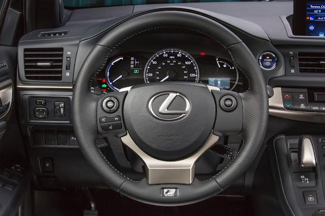 Interior view of 2016 Lexus CT 200h F-SPORT