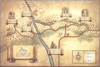 Mapa de las Ellora Caves