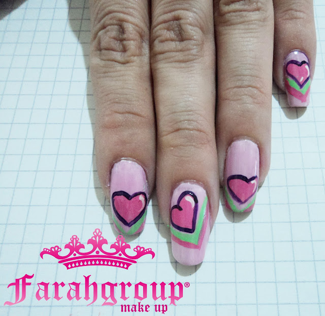 desafios de nail art, desafio de nail art corto, desafio 7 days, nail art pink