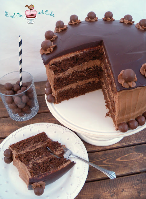 Bird On A Cake: Triple Chocolate Malt Cake