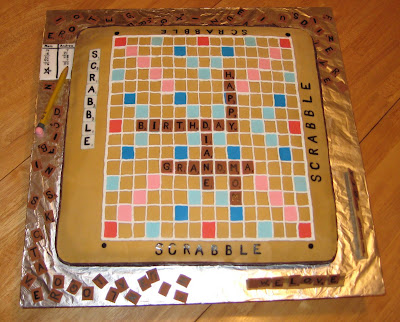 3D Scrabble Board Game Cake - Overhead View 2