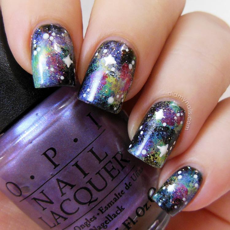 Galaxy Nails Tutorial: Did My Nails: Galaxy Nails