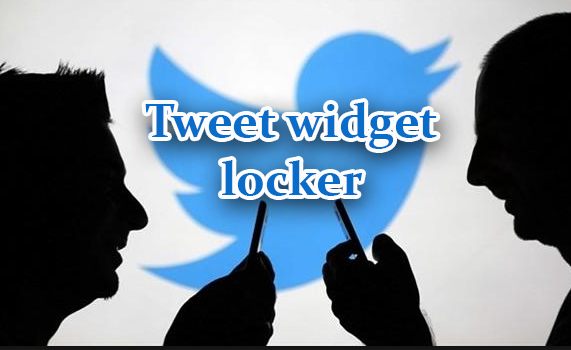 Tweet Widget  para desbloquear o conteúdo do blogger