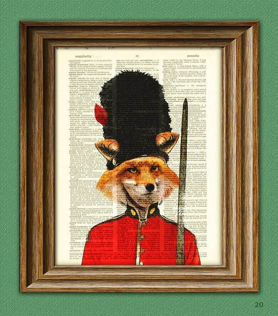 Collage-o-Rama. La Musa Decoración, Fox, Dandy, Picture, Collage, zorro