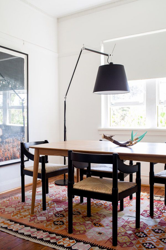 arc floor lamp for the dining room image by phu tang via the design