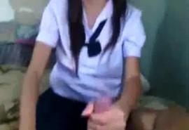 คลิปหลุดทางบ้านแอ๊บเป็นสาวม.ต้นเอากับแฟนหนุ่มในชุดนักเรียนเด็ดจริง!!