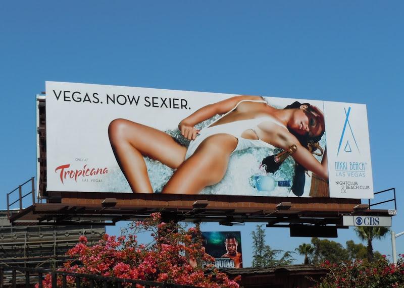 Sexier Vegas bikini billboard