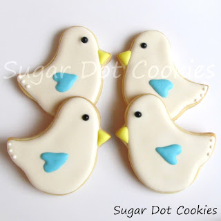 Love Bird Sugar Cookies with Royal Icing
