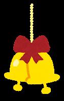 クリスマスの飾りのイラスト(ベル)