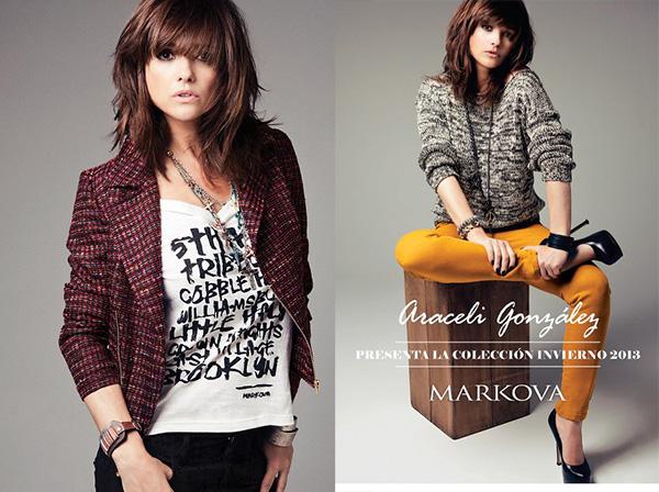 Araceli Gonzales para Markova colección otoño invierno 2013