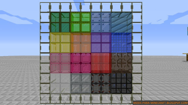 Cristales y vidrios del resource pack Megacraft Classic