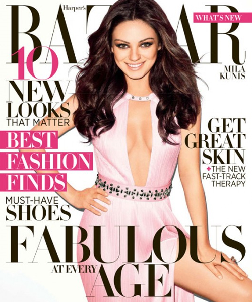 Mila Kunis, sexys photos magazine Harper's Bazaar