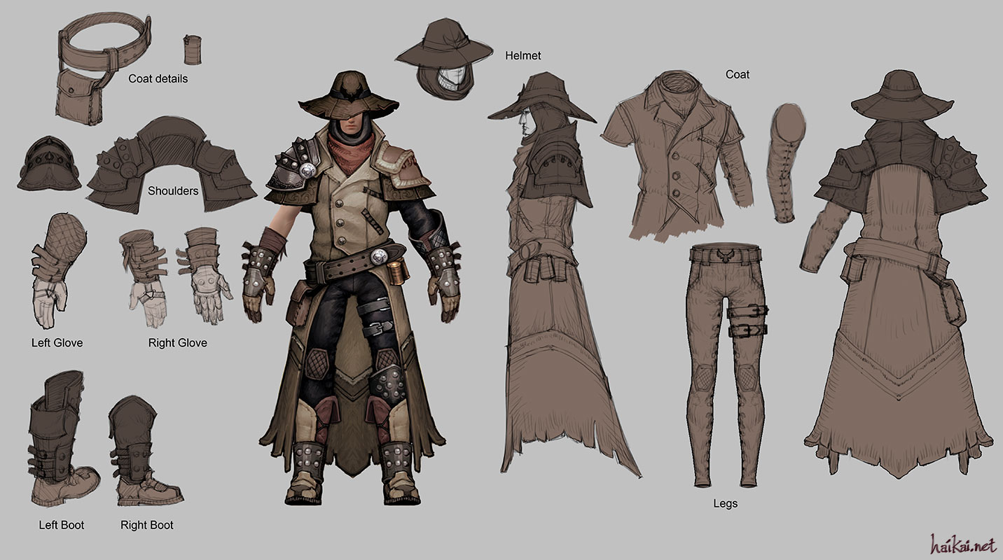 Western guy polycount - Steampunk style vestimentaire ...