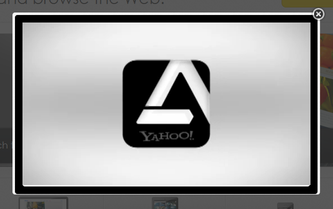Yahoo Axis Web Browser - How it Works