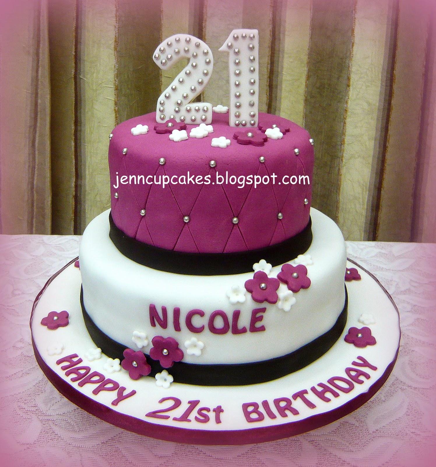 Jenn Cupcakes Muffins 21st Birthday Cake
