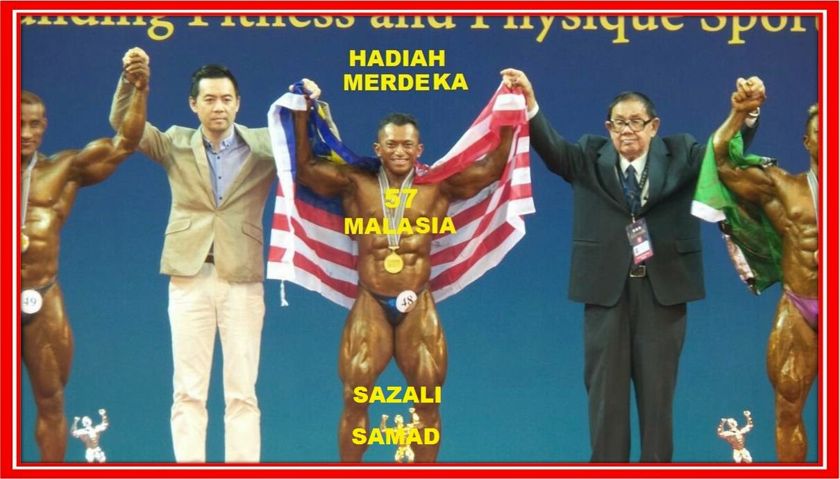 MR ASIA kali ke 9. TAHNIAH hadiah MERDEKA 57 untuk 1 MALAYSIA dari SAZALI SAMAD