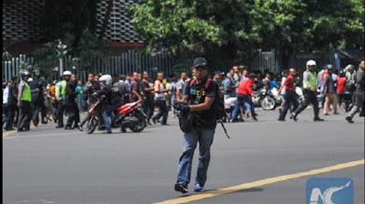 Foto Mayat Pelaku Bom Bunuh Diri di Sarinah, Jakarta