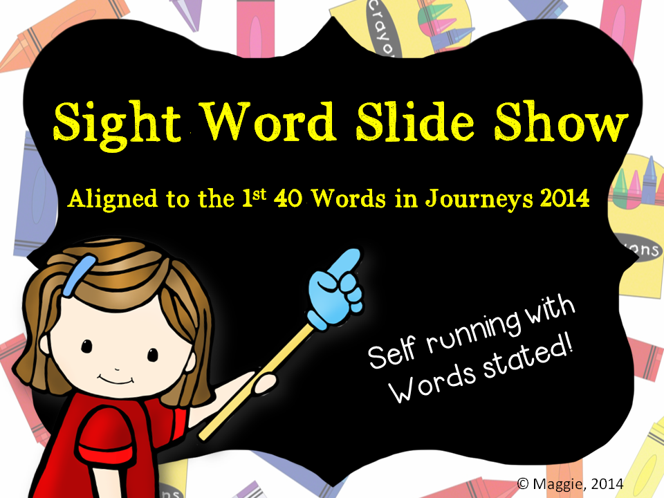 Sight Word PPT Slideshow Aligned to Journeys 2014