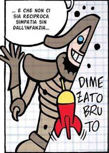 Alberto Corradi, strip ispirata a Calvino