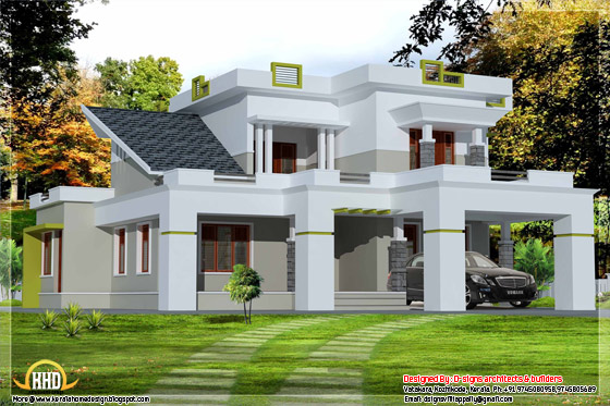 2500 3 bedroom contemporary house for 2500 sq ft house plans in kerala