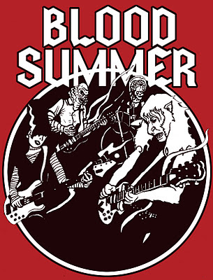 Blood Summer, Blood Summer poster, poster, werewolf, bride of frankenstein, martian, black lagoon