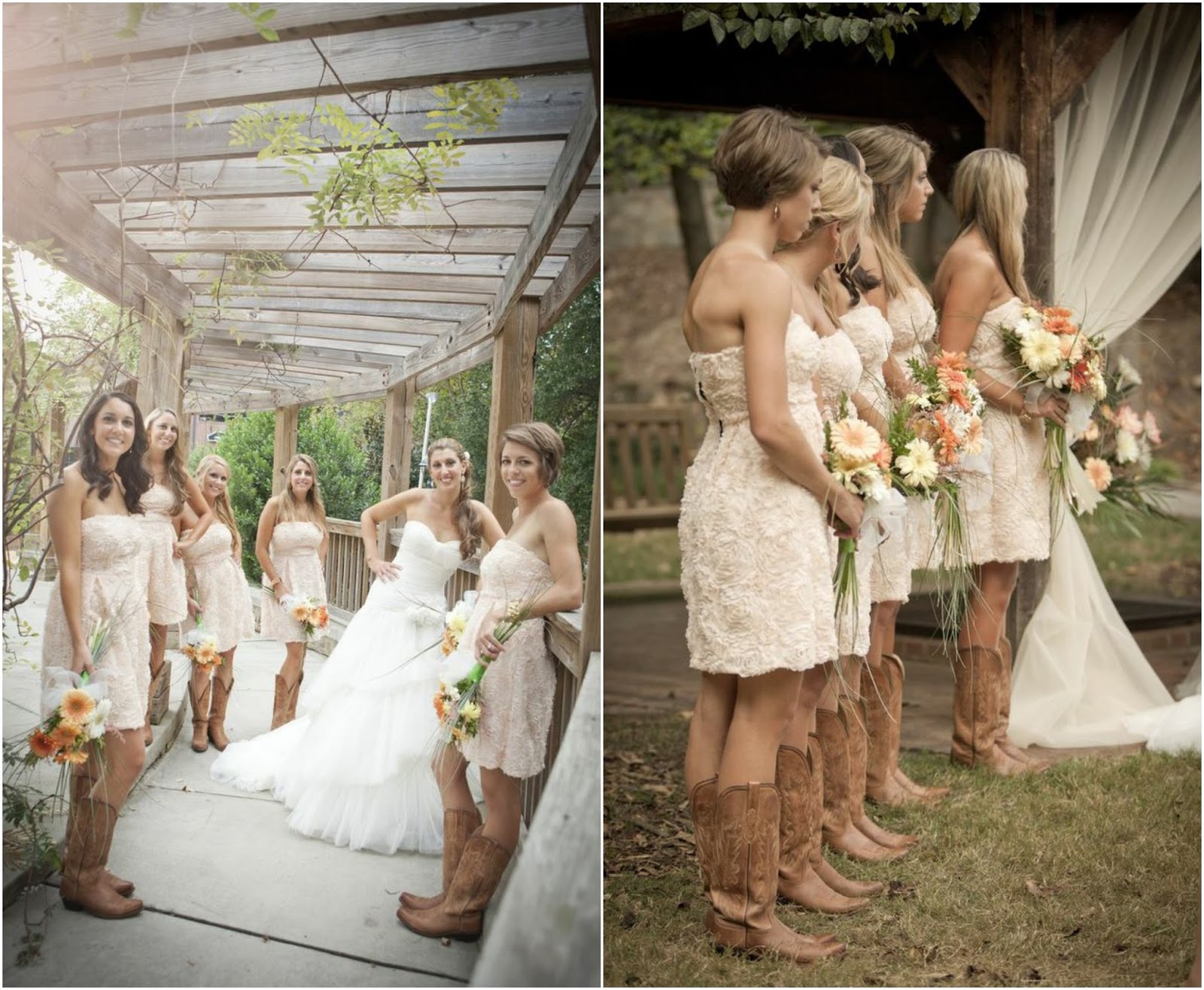 White short wedding dresses with cowboy boots for Short country wedding dress