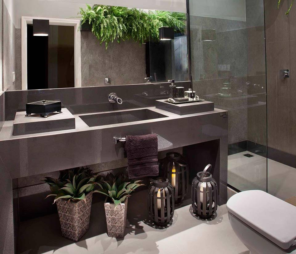Decora interi plantas em banheiros ou lavabos cuidados for Armarios para lavabos