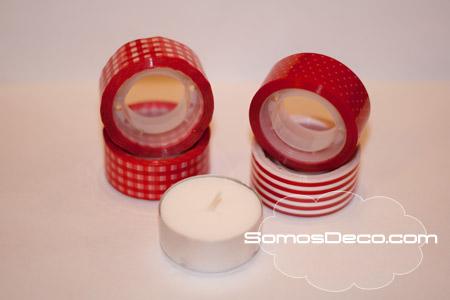 decorar velas para navidad