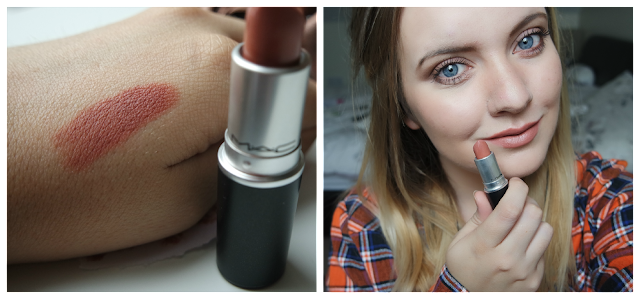 MAC Velvet Teddy Swatches (on the lips and skin)