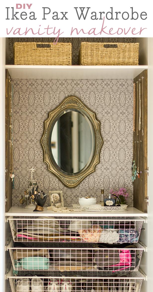 Ikea Drawers Inside Wardrobe ~ Jenna Sue Master Makeover Customized Pax Wardrobe Vanity