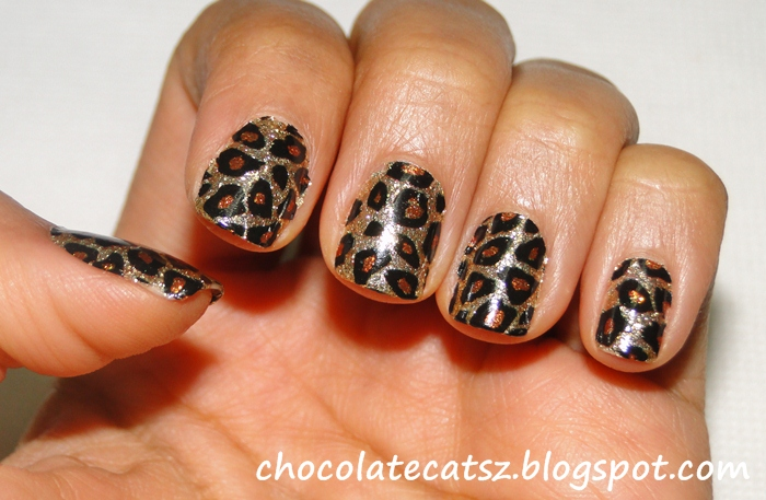 Chocolate Cats Leopard Rocks Sephora Nail Patch Art