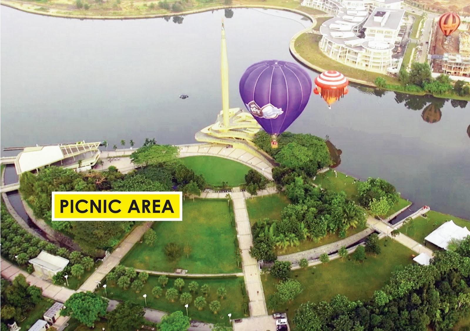 Picnic Area Layout of 6th Putrajaya International Hot Air Balloon Fiesta, 27-30 March