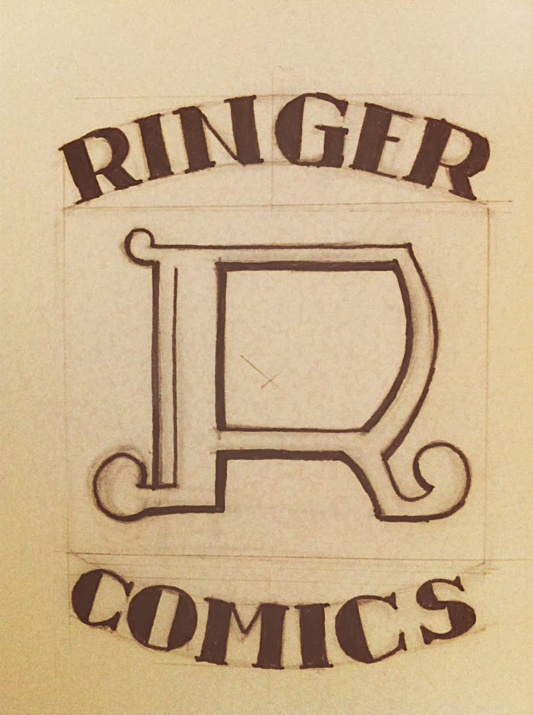 Curio and Co.'s Ringer Comics fictional publishing house for Spaceman Jax Comic - by Cesare Asaro