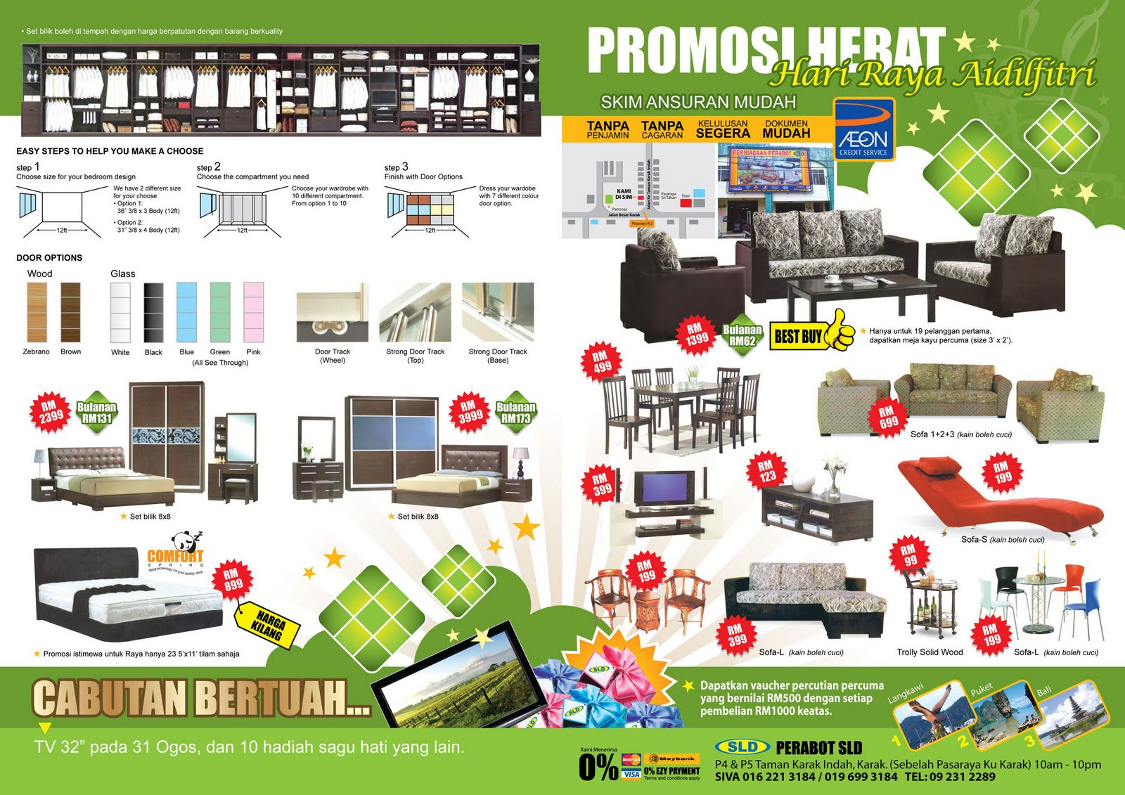 Create branding solutions agc 39 s folio 5 for P s furniture flyer