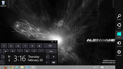 2013 Alienware Rainmeter Windows 8 Theme