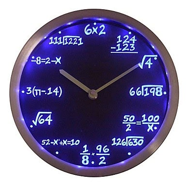 Reloj LED Matemáticas