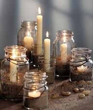 Beach Wedding Candles