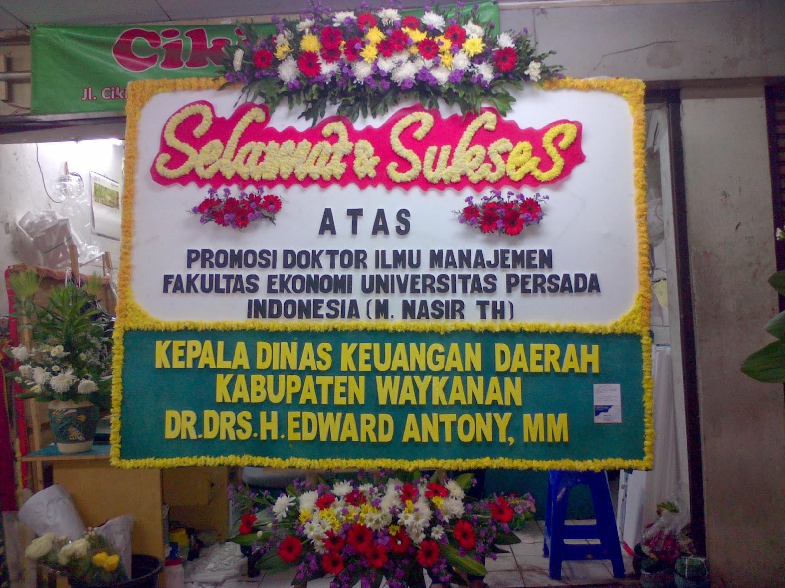 Toko Bunga Cikiniflorist Jakarta Contoh Produksi Bunga Papan Selamat Sukses Jakarta