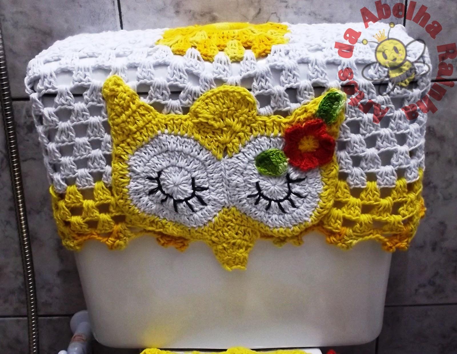Abelha Rainha: Jogo de banheiro corujas dorminhocas (amarelo e branco #B29319 1600 1238