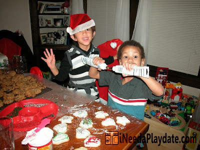 Kids having a good time | 6 Secrets to a Successful Christmas Cookie Decorating Party