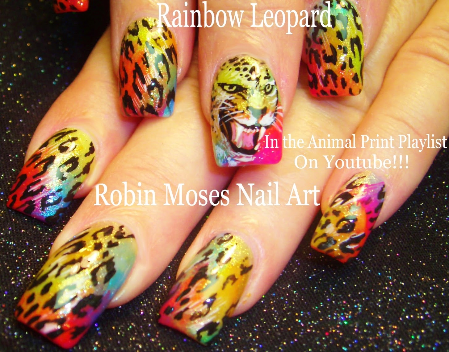 Nail Art By Robin Moses Leopard Nails Animal Print Nails Nail